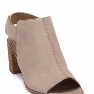 New Franco Sarto Helix Leather Suede Chic Sandals